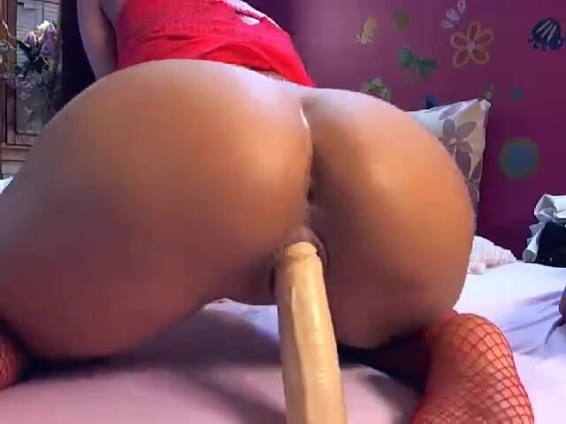 Big Ass Riding Anal Dildo